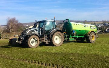 P&v bennett with Slurry spreader/injector at Aldcliffe