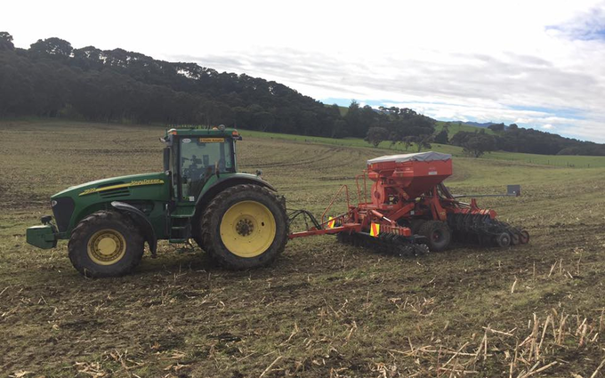 Rtb agri ltd with Drill at Whakarongo