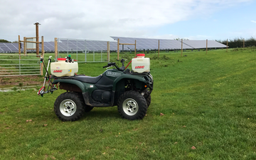 Shaw countryside management services with ATV sprayer at Bretforton