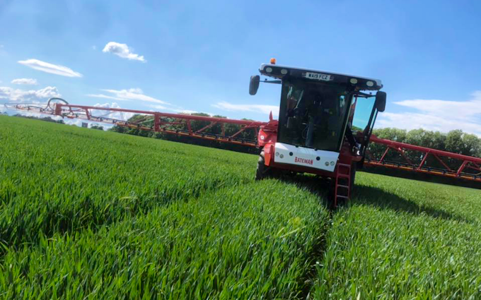 Sandwath farms with Self-propelled sprayer at Forcett