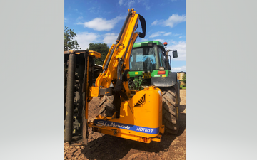 Afk. killick with Hedge cutter at United Kingdom