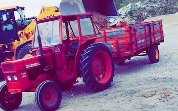 B.n markservice - stagstrup med Alm. vogn ved Snedsted