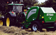 Jon richards contracting  with Round baler at East Hewish