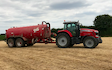Powells contracting  with Slurry spreader/injector at Hay-on-Wye