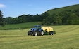 J&r dunford farming with Large square baler at Honey Street