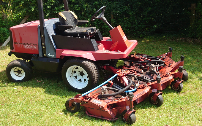 K.smith field services  with Lawn mower at Finchampstead