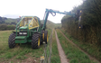 Tararua hedge cutting ltd. with Hedge cutter/mulcher at Mangatainoka