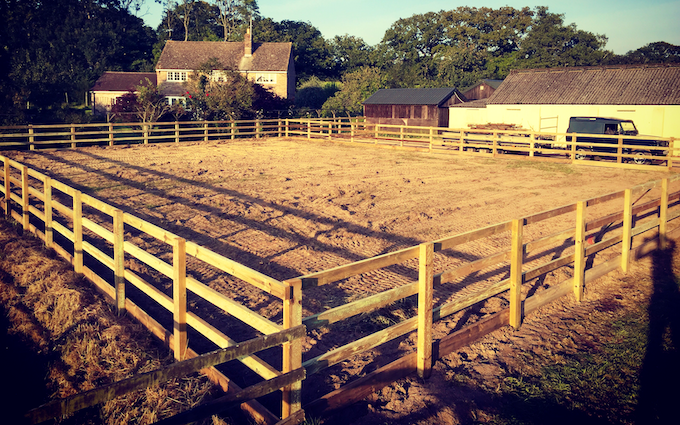 H+s agricultural contractor with Fencing at Corscombe
