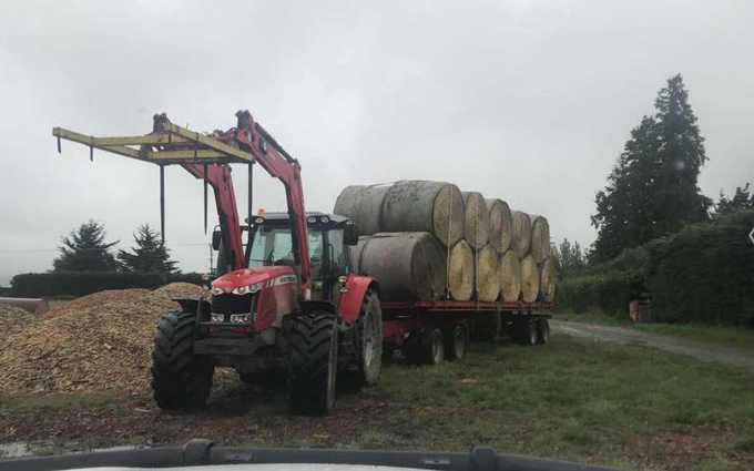 Mid canterbury baling ltd with Truck at Cavendish