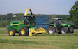 Cracknell contracting  with Forage harvester at Tidenham Chase