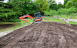 Smith all terrain contracting with Mini digger at Godalming