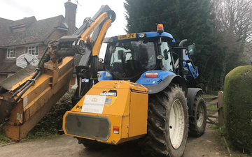 Bailey farm services  with Hedge cutter at United Kingdom