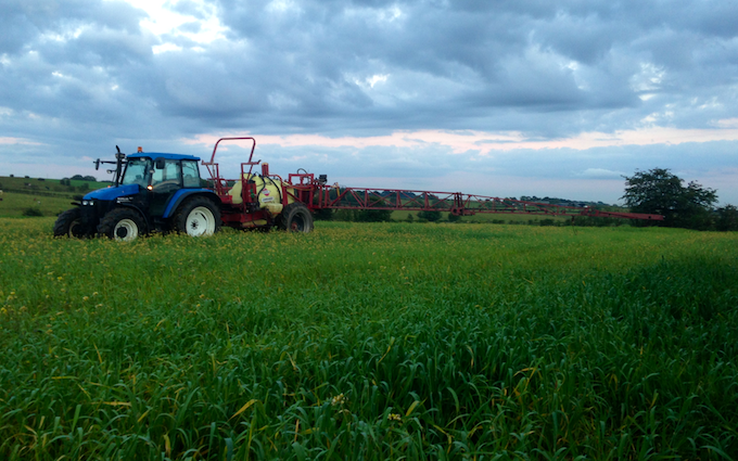 Euan r. drummond with Trailed sprayer at Dalry