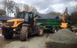 J. steel contracting  with Tipping trailer at Cauldhame Farm Road