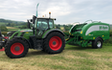 D.j. o'neill agri contracts with Round baler at Gwernaffield