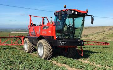 Cornbury farm contracting ltd with Self-propelled sprayer at West Lavington