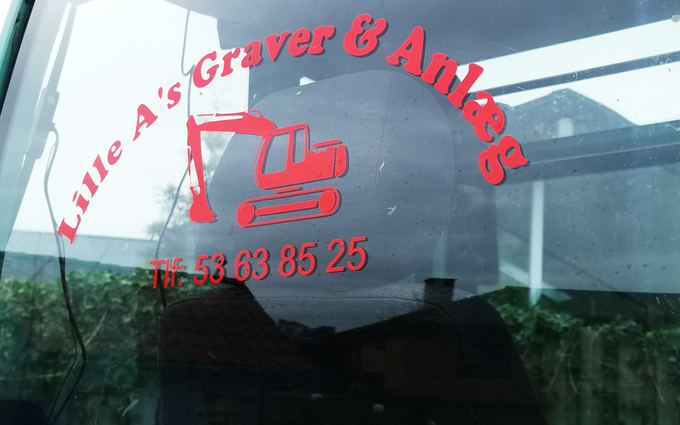 Lille a's graver og anlæg  med ATV ved Hornsyld