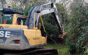 B j goose digger hire ltd  with Verge/flail Mower at Martham