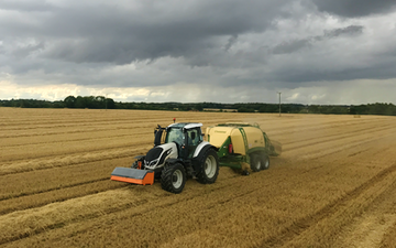 Wrm agri ltd  with Large square baler at Kettlebaston
