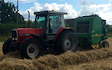 Jw agricultural services  with Round baler at Vincent Way