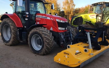 Neil chapman plant hire  with Verge/flail Mower at Bushs Orchard