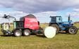 Sydvestjysk drænsspuling med Wrapballepresser ved Tønder