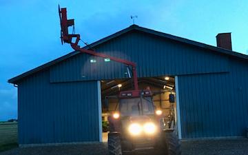 Sdr. tørring maskinstation med Hegnsklipper ved Lemvig