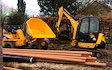 Gunns contractors ltd with Drainage Trencher at Church Crookham