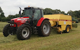 K.smith field services  with Large square baler at Finchampstead