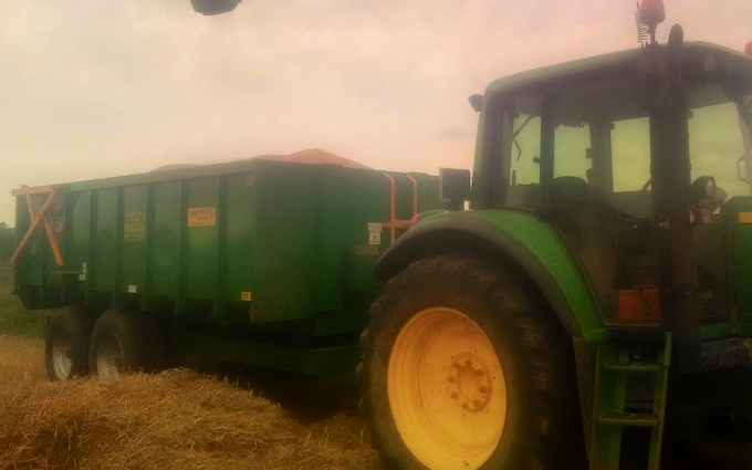 W.h.easterby & sons with Silage/grain trailer at Sharlston Common