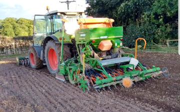 B lister agric contracting with Drill at York Road
