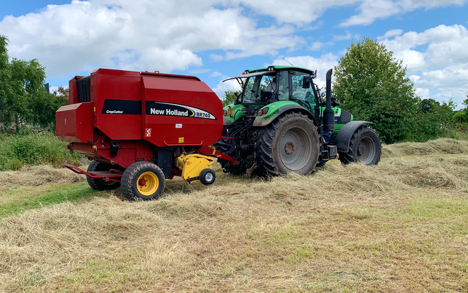 A j roberts farm & garden services with Round baler at Target Close