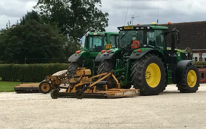 J turner contracting with Mower at Coningsby