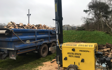 Ej agriculture  with Log splitter at United Kingdom
