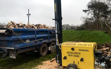 Ej agriculture  with Log splitter at United Kingdom