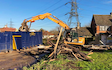 Aeh services with Excavator at Reading Road
