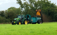 Jon richards contracting  with Manure/waste spreader at East Hewish