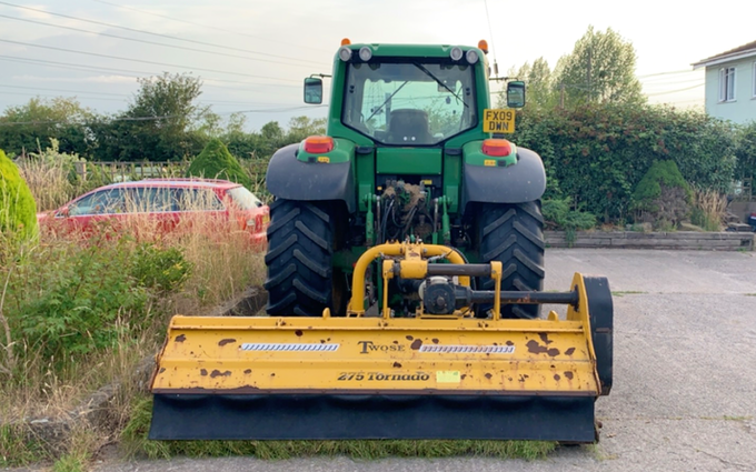 J davies agri  with Verge/flail Mower at Redwick