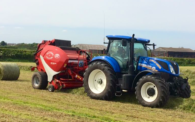 Allison's of liverton with Round baler at Liverton