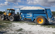 Jlr farm services with Lime spreader at Misterton