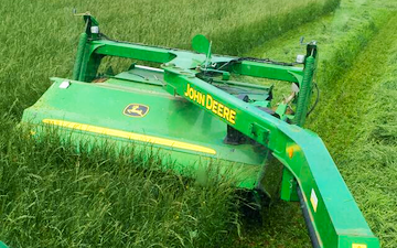 Oxfordshire's agricultural services with Mower at Boars Hill