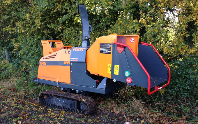Ridleaves limited with Wood chipper at Berwick Saint James