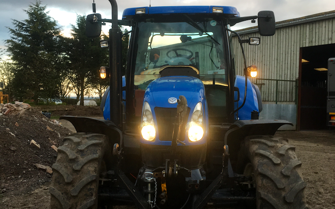 Matthew o'toole  with Tractor 100-200 hp at Wichenford