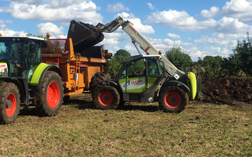 A . d with Telehandler at United Kingdom