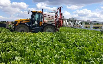 Jlr farm services with ATV sprayer at Misterton