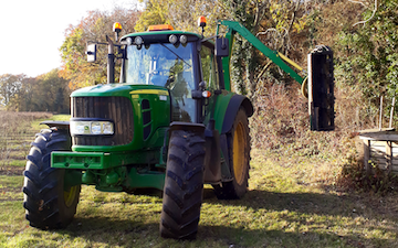 A j agriculture services  with Hedge cutter at Blundeston