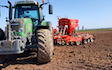 Stuart m ranby agriculture  with Drill at Nottinghamshire