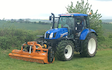 Robert duffin hedge laying fencing groundwork  with Mower at Saxby
