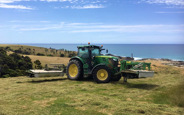 Joe herbert contracting ltd with Mower at Kaikoura