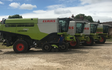 Richardson engineering  with Combine harvester at Wetherby